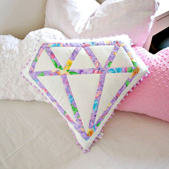 Nursery pillow decorative pillow diamond by LoveColorsByJulianna