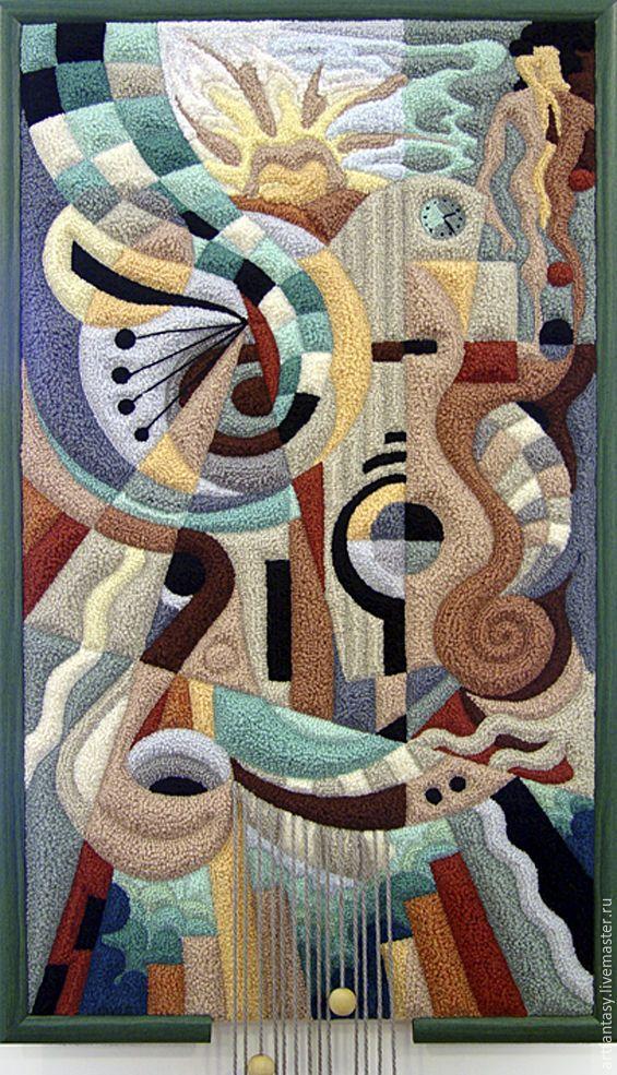 """Купить ГОБЕЛЕН """"Улыбка художника"""" - комбинированный, Гобелен, гобеленовая картина, гобелен в интерьере"""