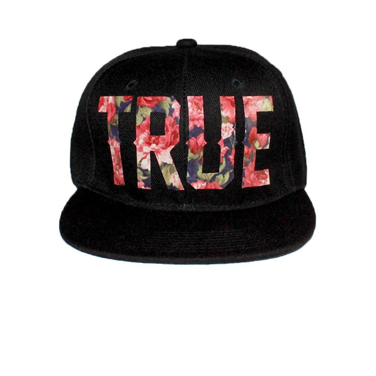 - Have Merci - TRUE Snapback Hats by Jay True http://thirdeyetrue.tumblr.com- Hand Selected Vinyl Laminated Floral Fabric Swatch on 100% Acrylic Black Vintage Style Flat Bill Snapback. - Handmade, no two pieces are identical. - One size fits most.* Extremely limited! Reproduction is not guaranteed. **All Domestic USA orders receive free USPS Priority Mail Shipping.
