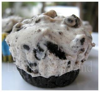 Le palais gourmand: Mini-gâteaux au fromage à la crème et aux biscuits Oréo