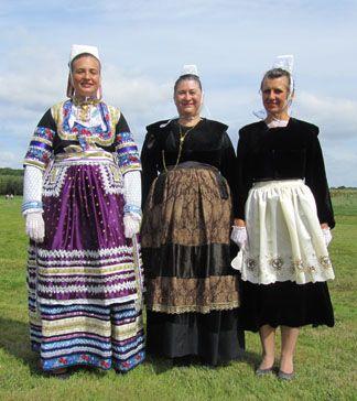 Evolution du costume de Quimper 1885 - 1910 - 1950 | Finistère Bretagne