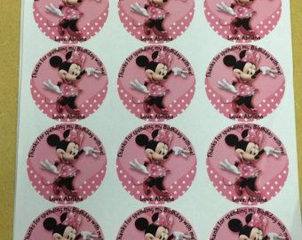 Minnie Mouse pink and gold stickers Minnie Mouse pink gold