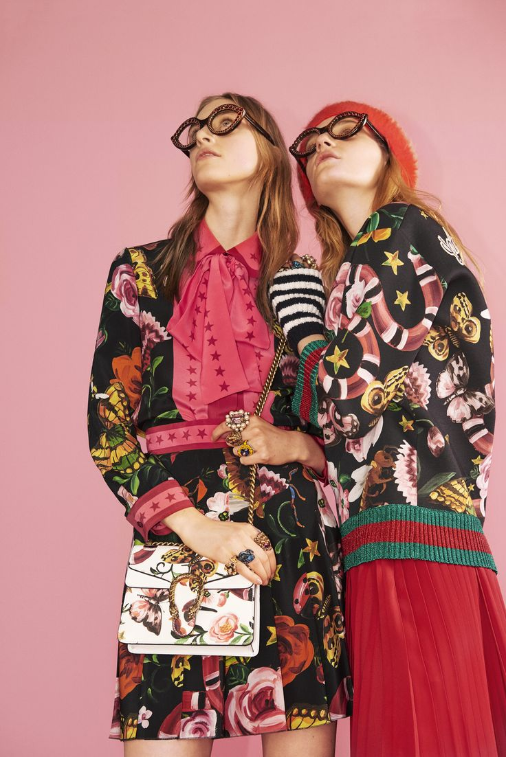 In the Gucci Garden collection, the print is specially placed on fabric to…