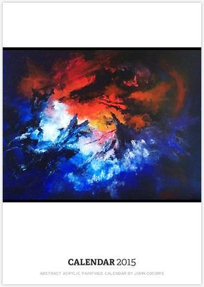 ABSTRACT ACRYLIC PAINTINGS CALENDAR BY JOHN COCORIS