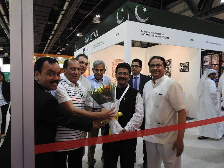 Inauguration of indian pavilion at index 2015 for International decor uae
