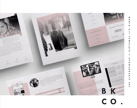 Social Media Kit Template Set | 6Pgs by Blogger Kit Co. on @creativemarket