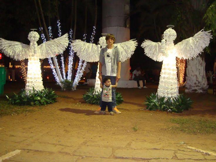 anjos de natal com garrafas pet - Pesquisa Google