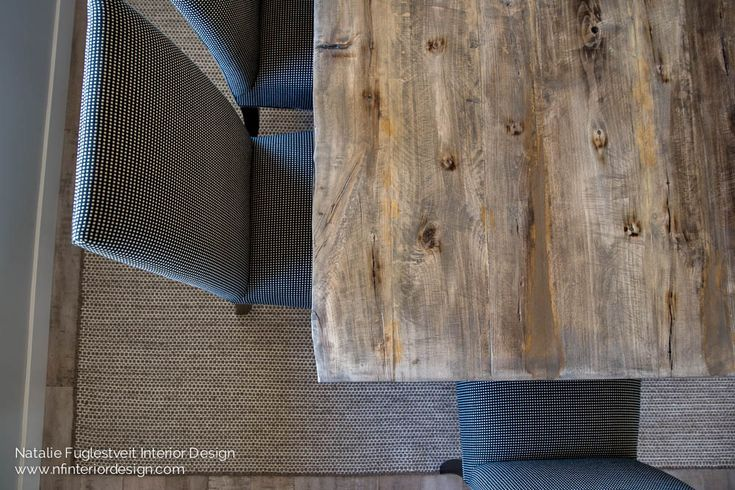 Fresh Rustic Modern Dining Room by Calgary Interior Designer
