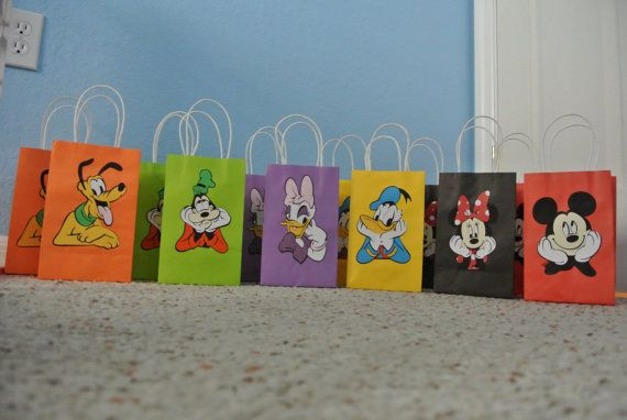 Mickey Mouse Clubhouse Goody Bags 12 count on Etsy, $25.00