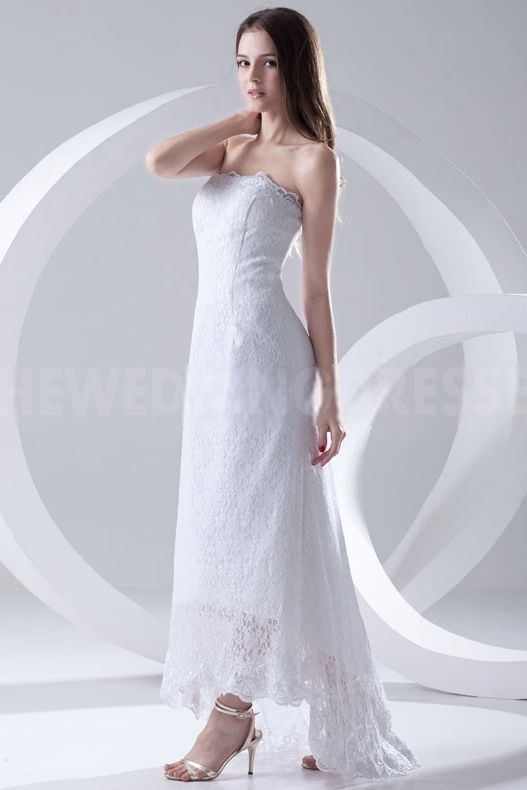 strapless Luxury White Bridal Gowns - Order Link: http://www.theweddingdresses.com/strapless-luxury-white-bridal-gowns-twdn4049.html - Embellishments: Beading; Length: Floor Length; Fabric: Lace; Waist: Natural - Price: 207.1153USD