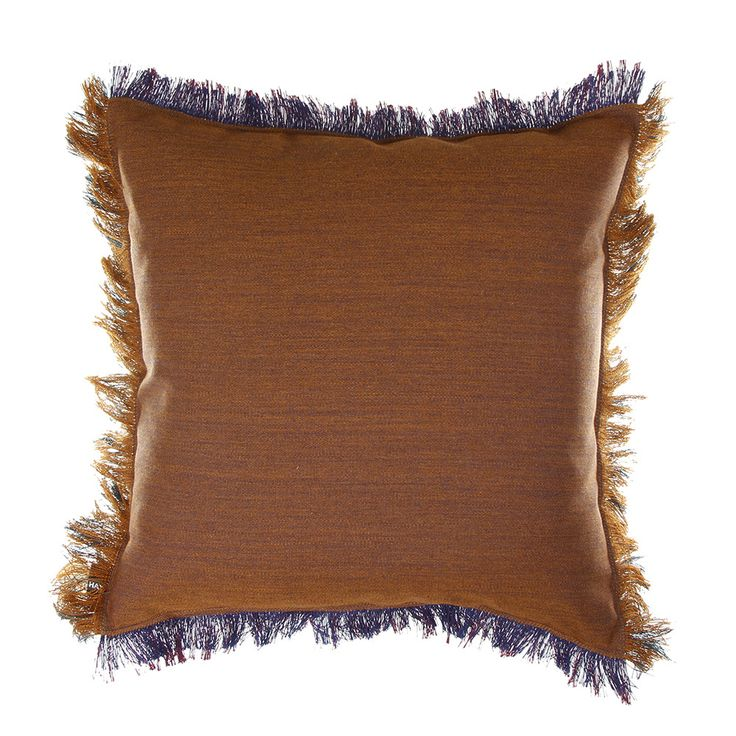 This Fray Cushion from HAY features an unusual design incorporating two contrasting shades of fabric. Beautiful brown and navy colours have been paired together and complemented by frayed edging on al