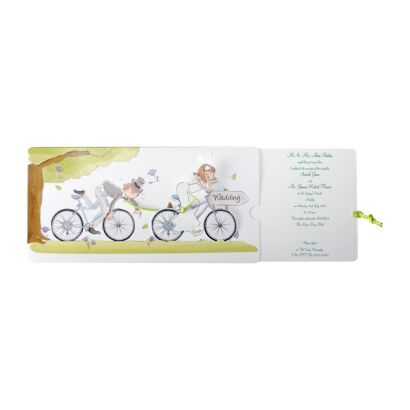 Bicycle Day Invitation   Wedding Invitations