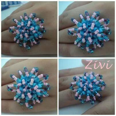 anillo de color turquesa von El rinconcito de Zivi auf DaWanda.com