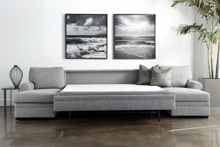 Gina Sectional Comfort Sleeper Sofa By American Leather Is Available In A Range Of Leathers