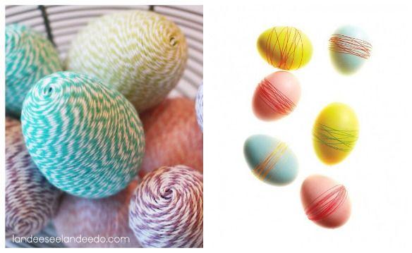 Creative Easter Egg Decorating :: Easter Ideas: Baker Twine, Decor Eggs, Crafts Ideas, Decor Ideas, Easter Eggs Collage3, Easter Check, Creative Easter, Great Ideas, Easter Ideas