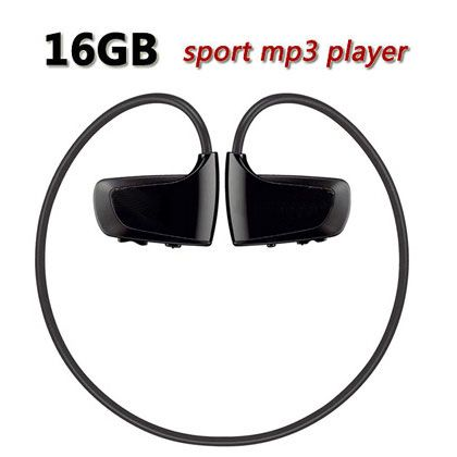 16G W262 mp3 player W262 music player sport mp3 headphone earphone high sound quality Free Shipping