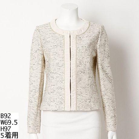 ジャケット(ラメ入りニットツイードジャケット) | ローズティアラ(Rose Tiara) | ファッション通販 マルイウェブチャネル[WW721-130-43-01]