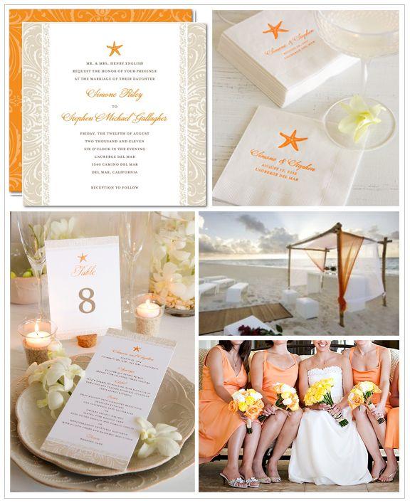 Beach Wedding Inspiration Board