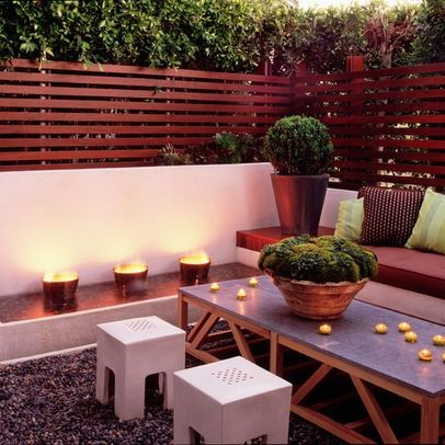 Small Patio Space Design Idea. Fire pits and children scare me though.