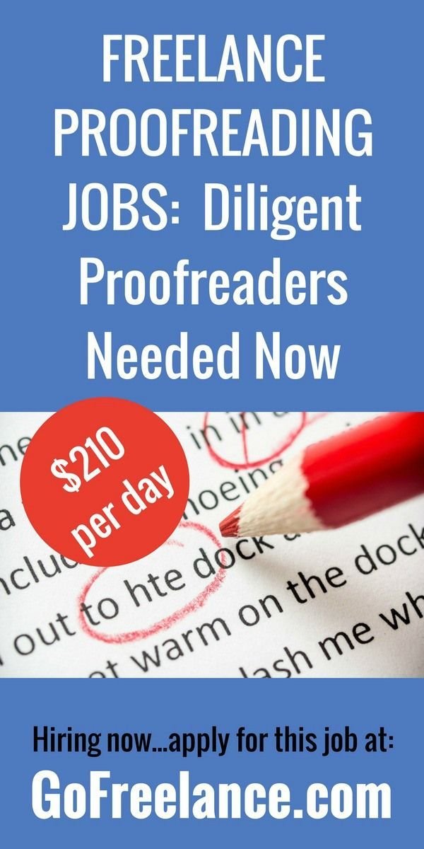 Do you have the eye for detail required to make it as a dependable proofreader? We have a need for good people to fill this role worldwide.
