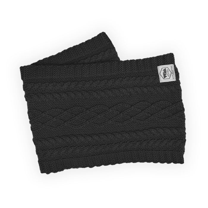 Snood Anthracite Torsadé | White Mountains Clothing | Apparel, Headwear & Accessories made in France