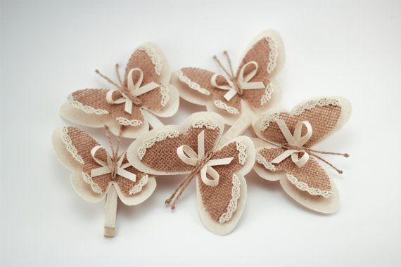 Set di 5 vestiti perni con ali di farfalla ali di di MaLilili