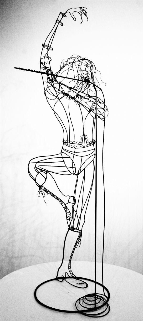 114 best Wire art images on Pinterest | Wire art, Wire work and Wire ...