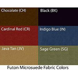 Blazing Needles Vitality 10-inch Micro Suede Full Size Futon Mattress (Chocolate), Brown