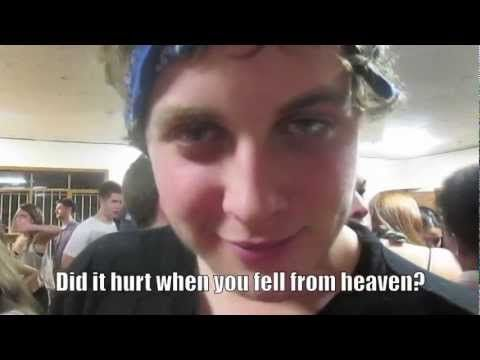 Frat Boys Spill Pick Up Line Secrets  This is a 45 second video for my sociology class, I need 1000 views PLEASE :)