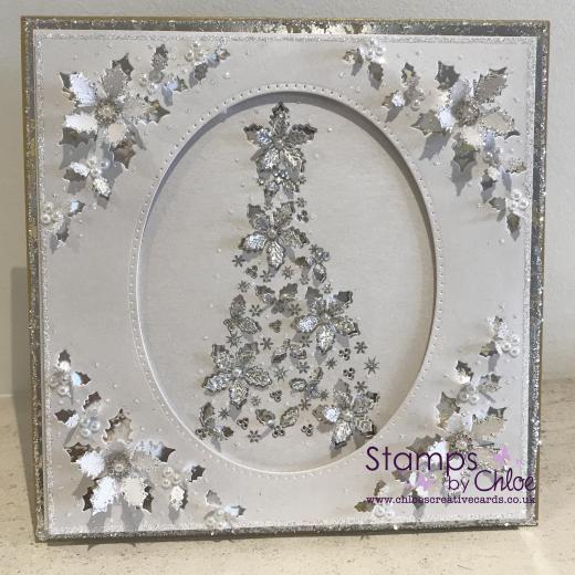 Dies by Chloe - CHCC-030 Holly Flower Tree - £14.99 - Dies By Chloe Chcc030 Holly Flower Tree - Chloes Creative Cards
