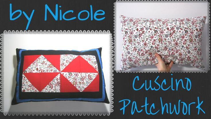 Come realizzare un cuscino patchwork - sew a patchwork cushion