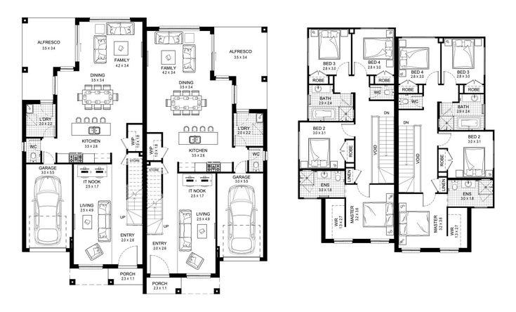 Kensington 46 - Duplex Level - Floorplan by Kurmond Homes - New Home Builders Sydney NSW