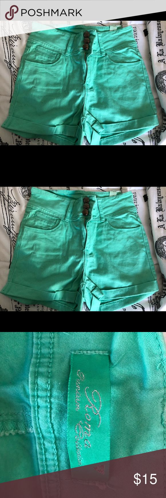 Mint Green Shorts These shorts just scream summer and everything fun in the sun! These are high waisted, mint green, button up shorts! Shorts Jean Shorts