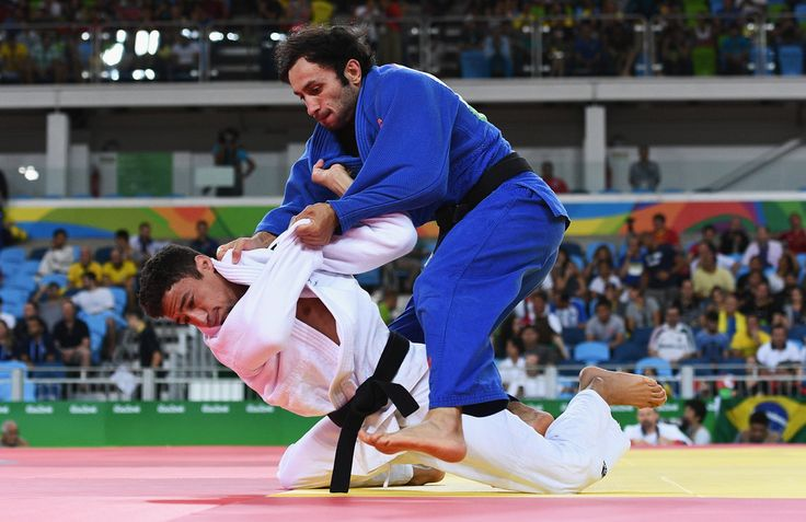 DAY 1:  Men's Judo - Ashley Mckenzie of Great Britain vs Bekir Ozlu of Turkey