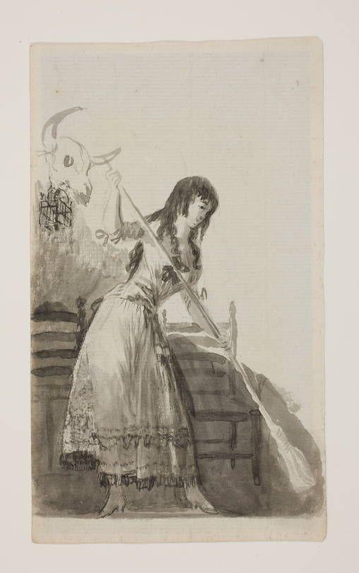 Goya en El Prado: Joven barriendo  ~Repinned Via Amparo Mañez