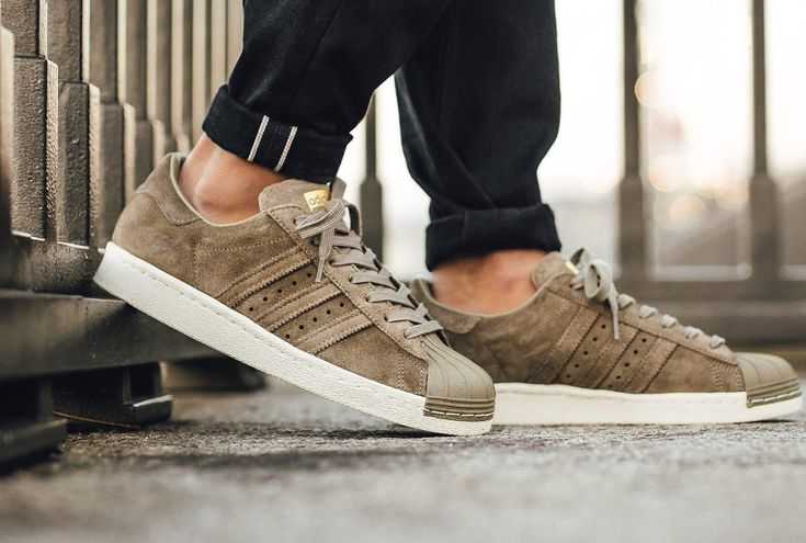 Adidas Superstar 80's Suede Grise 'Trace Cargo Gold' (homme ...