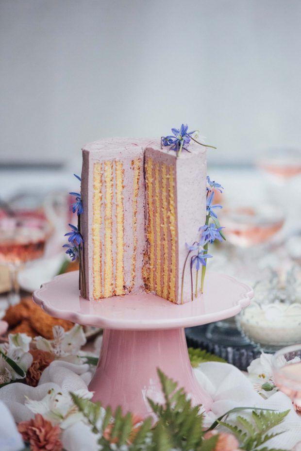 a0a1f511db7 Lemon Berry Stripe Cake for a Royal Wedding