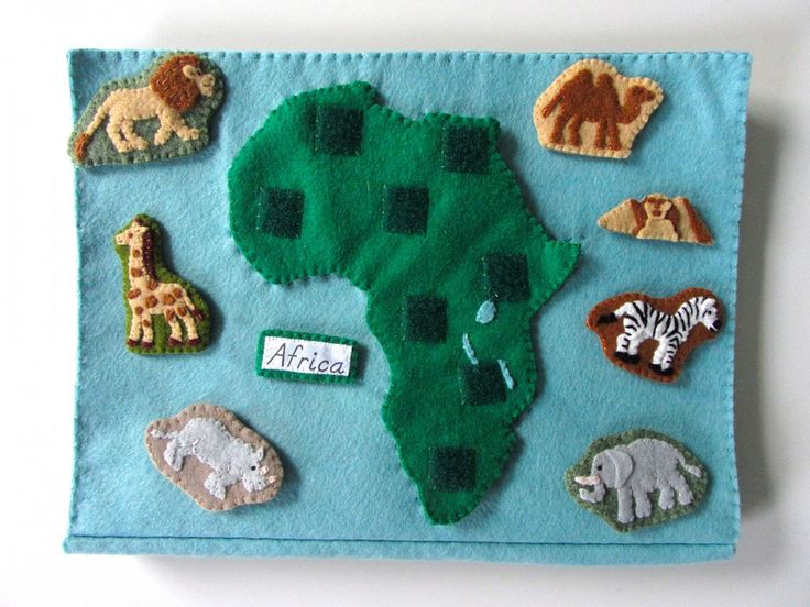 Animals of Africa for the Montessori Wall Map & Quietbook