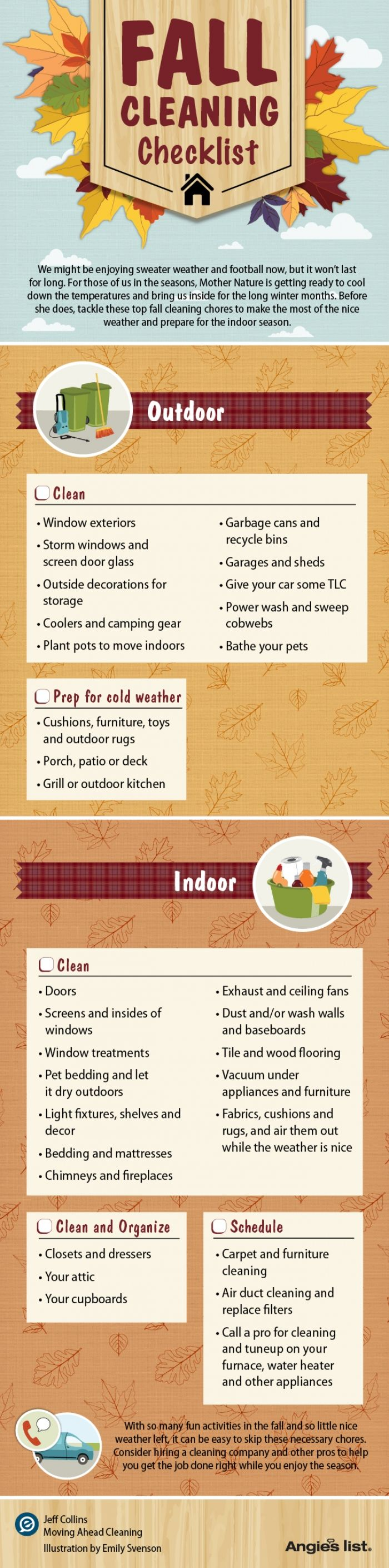 fall cleaning checklist!