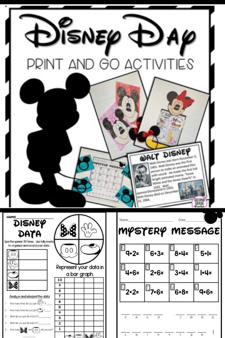 medium resolution of Disney Day Activities   Disney day