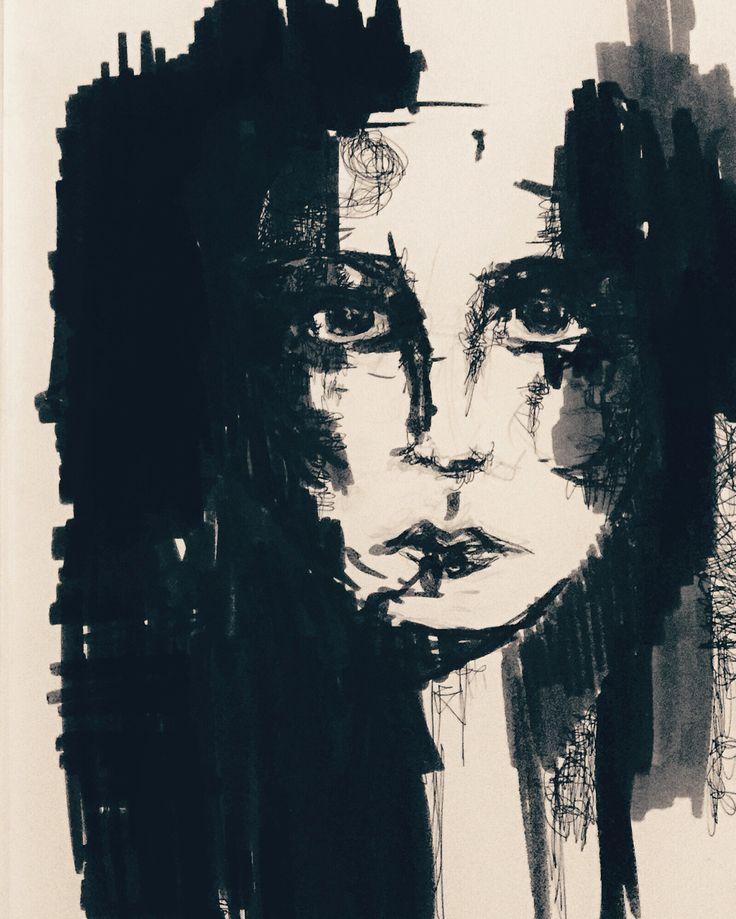 Ink Drawing #inkdrawing #ink #face #art #artist