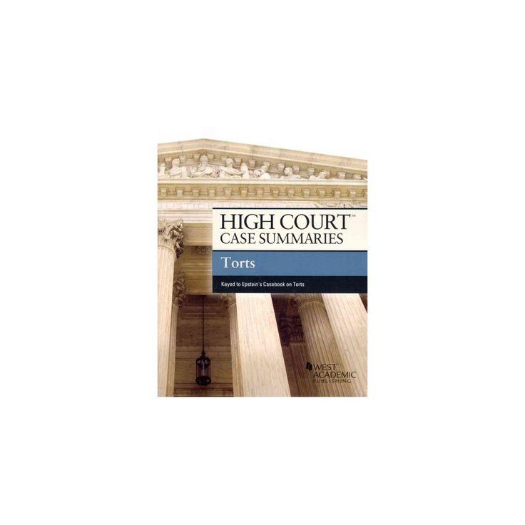 High Court Case Summaries on Torts ( High Court Case Summaries) (Paperback)