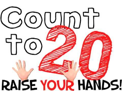 COUNT TO 20!!!!!!! (hip counting song for kids), via YouTube.