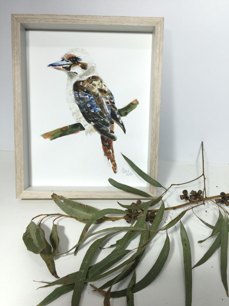 This Kookaburra painting is flying off to his new home! Loved painting him. Enjoy your new home surrounded by lots of gum trees and 5 resident kookaburras! www.glamjamstudiosau.etsy.com
