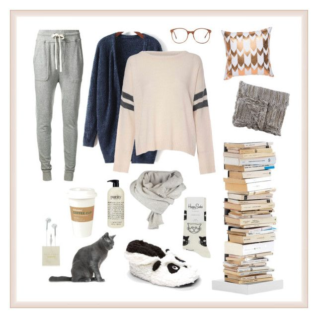 """""""it's cold outside"""" by hannahmehringer on Polyvore featuring Mode, James Perse, Glamorous, Happy Socks, philosophy, Kikkerland, American Apparel, Barneys New York und Opinion Ciatti"""