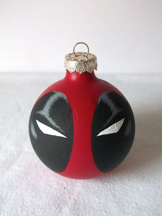 Deadpool Marvel Superhero Painted Holiday Christmas by GingerPots, $16.00