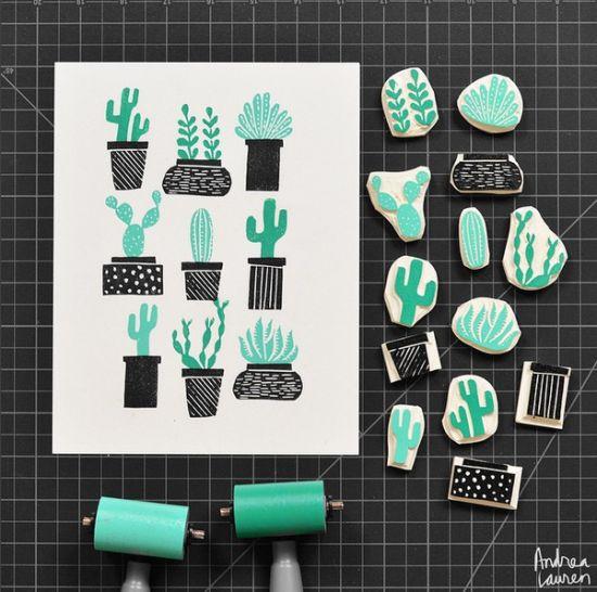 Block print by Andrea Lauren