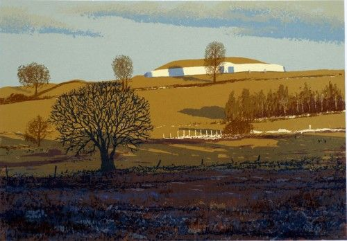 Aidan Flanagan: Early Morning Shadows, Newgrange, screenprint,  €400