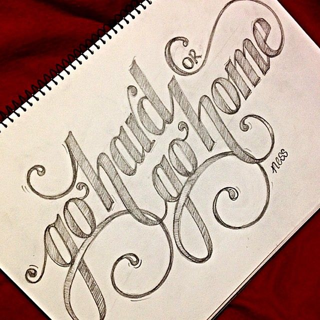 "Hand lettering ""go hard or go home"" by Vanessa Durrington"