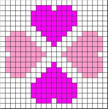 Little Heart graph for tapestry crochet
